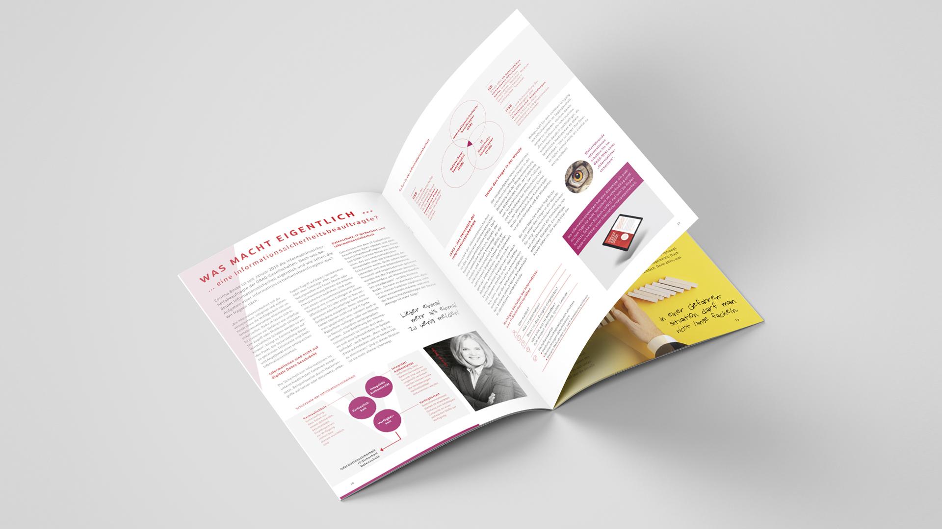 Corporate Publishing – Das neue Mitarbeitermagazin der ÖRAG Gruppe, Doppelseite