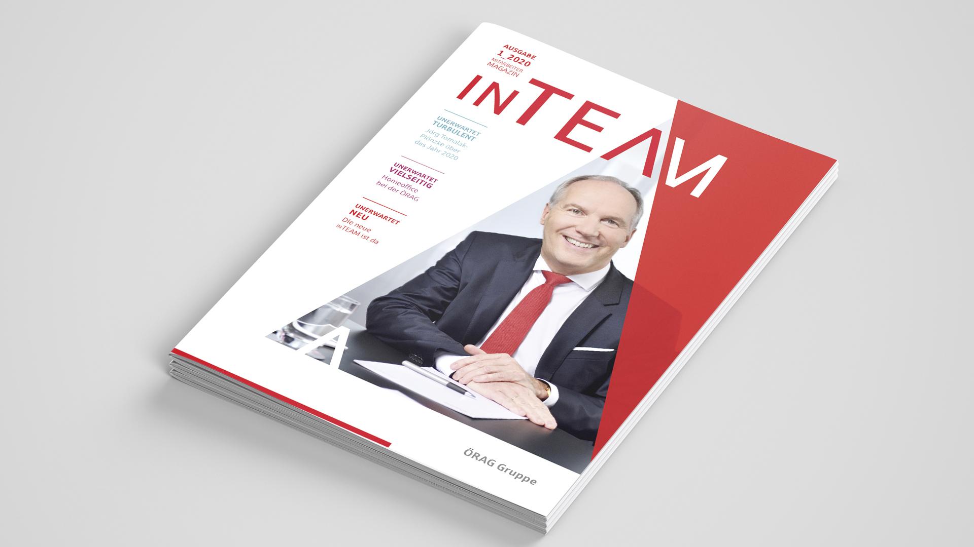 Corporate Publishing – Das neue Mitarbeitermagazin der ÖRAG Gruppe, Titelseite