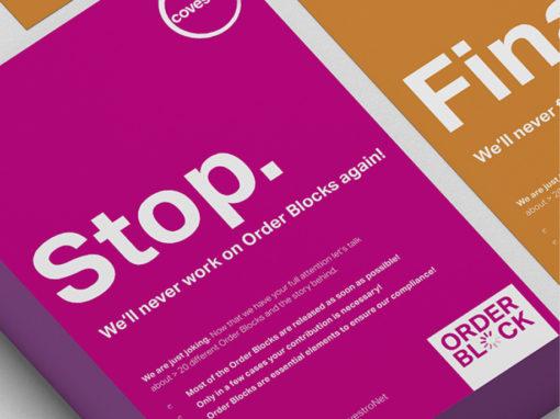Covestro Order Block – Internationale Kampagne für Product Safety & Regulatory Affairs