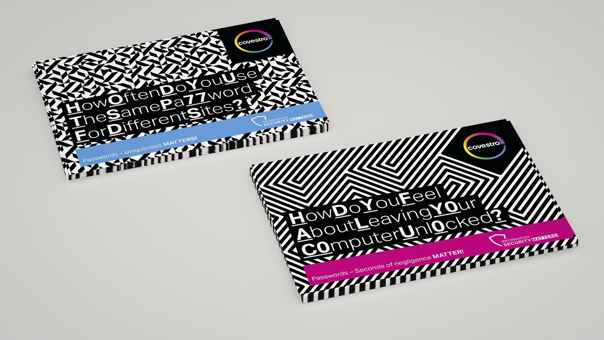 Covestro AG Kampagne Passwortsicherheit Postkartenset