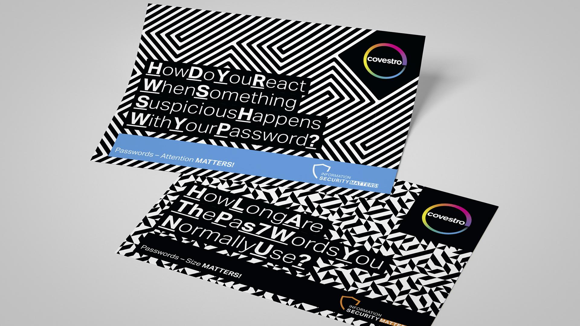 Covestro AG Kampagne Passwortsicherheit Postkarten