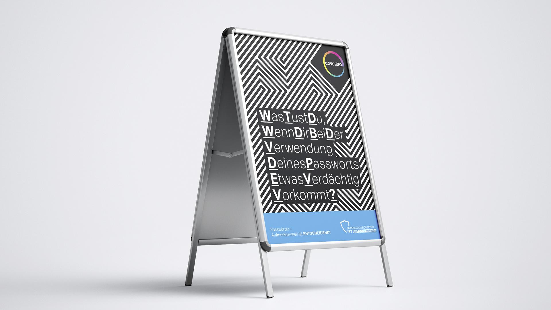Covestro AG Kampagne Passwortsicherheit Aufsteller