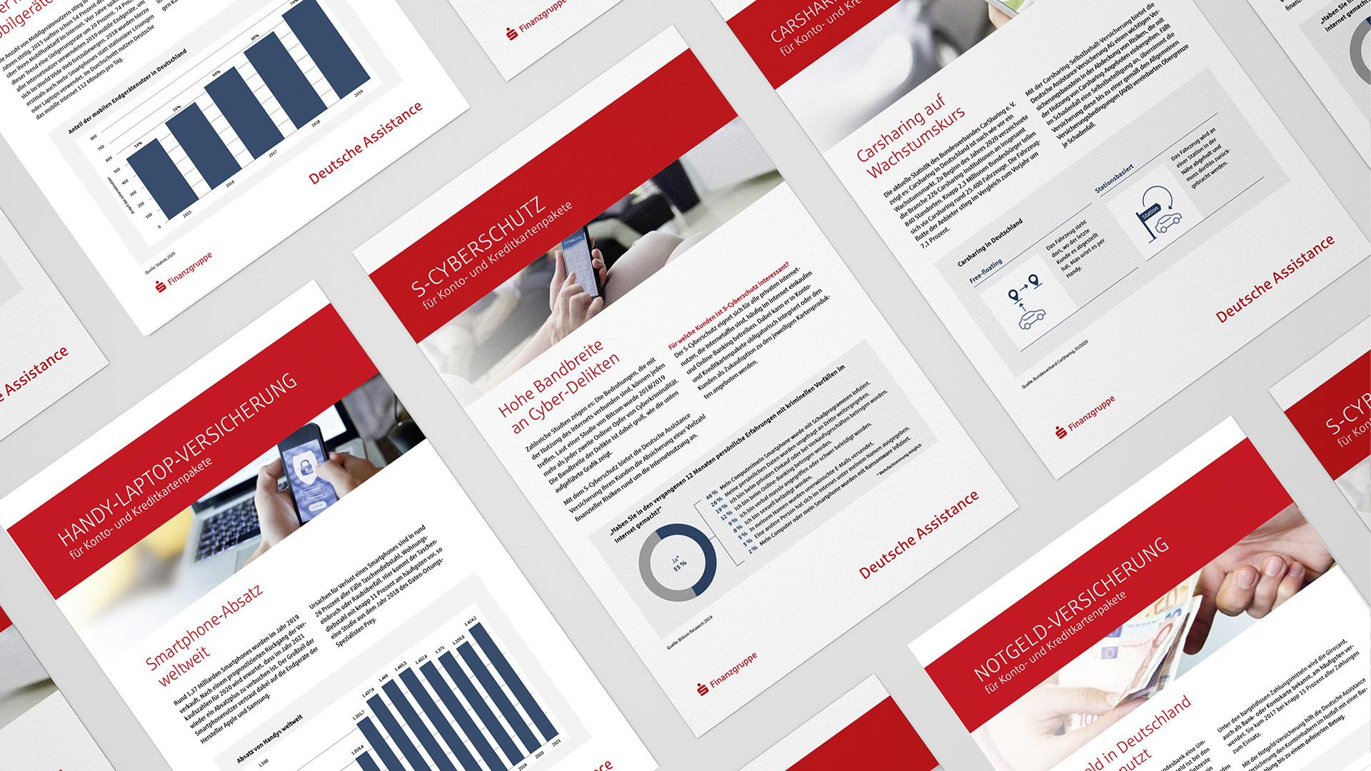 Deutsche Assistance - Relaunch des Coprporate Designs für den Versicherer aus der Sparkassen Finanzgruppe