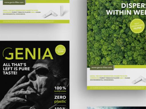 GENIA – Markenentwicklung für biologisch abbaubare Zigarettenfilter