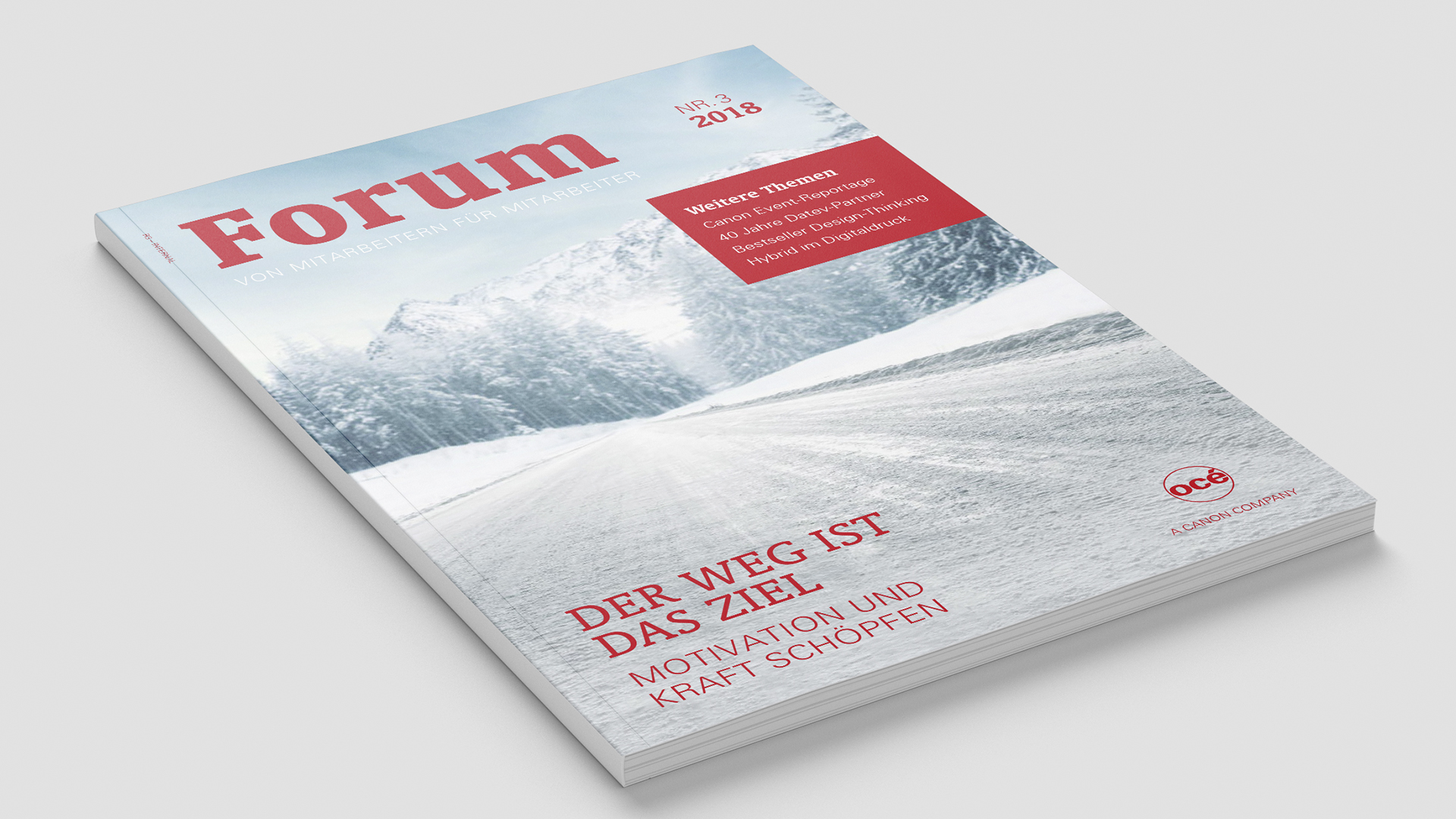 Océ Canon Corporate Publishing Relaunch Mitarbeitermagazin