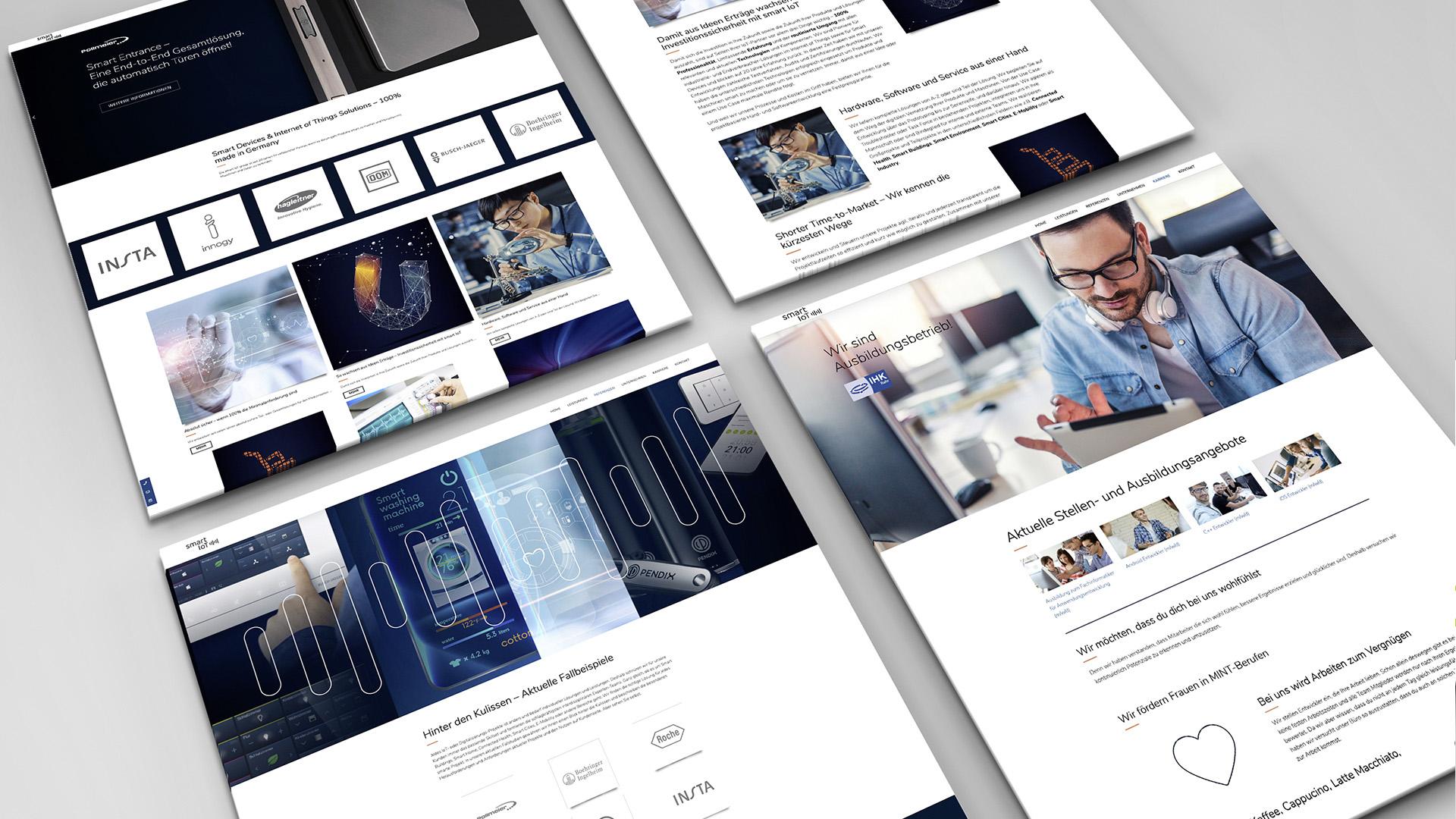 Userinterfaces Website smart IoT