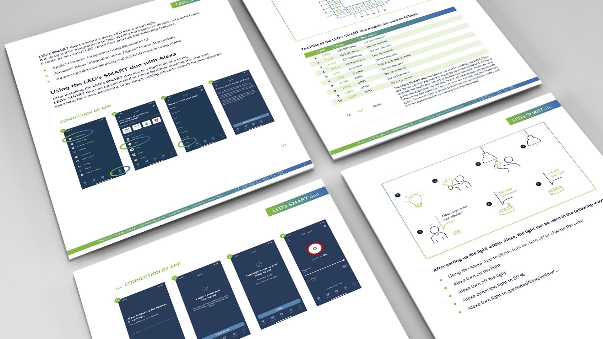 Markenentwicklung – Brand Design für smarte Lampensteuerung, Factsheet