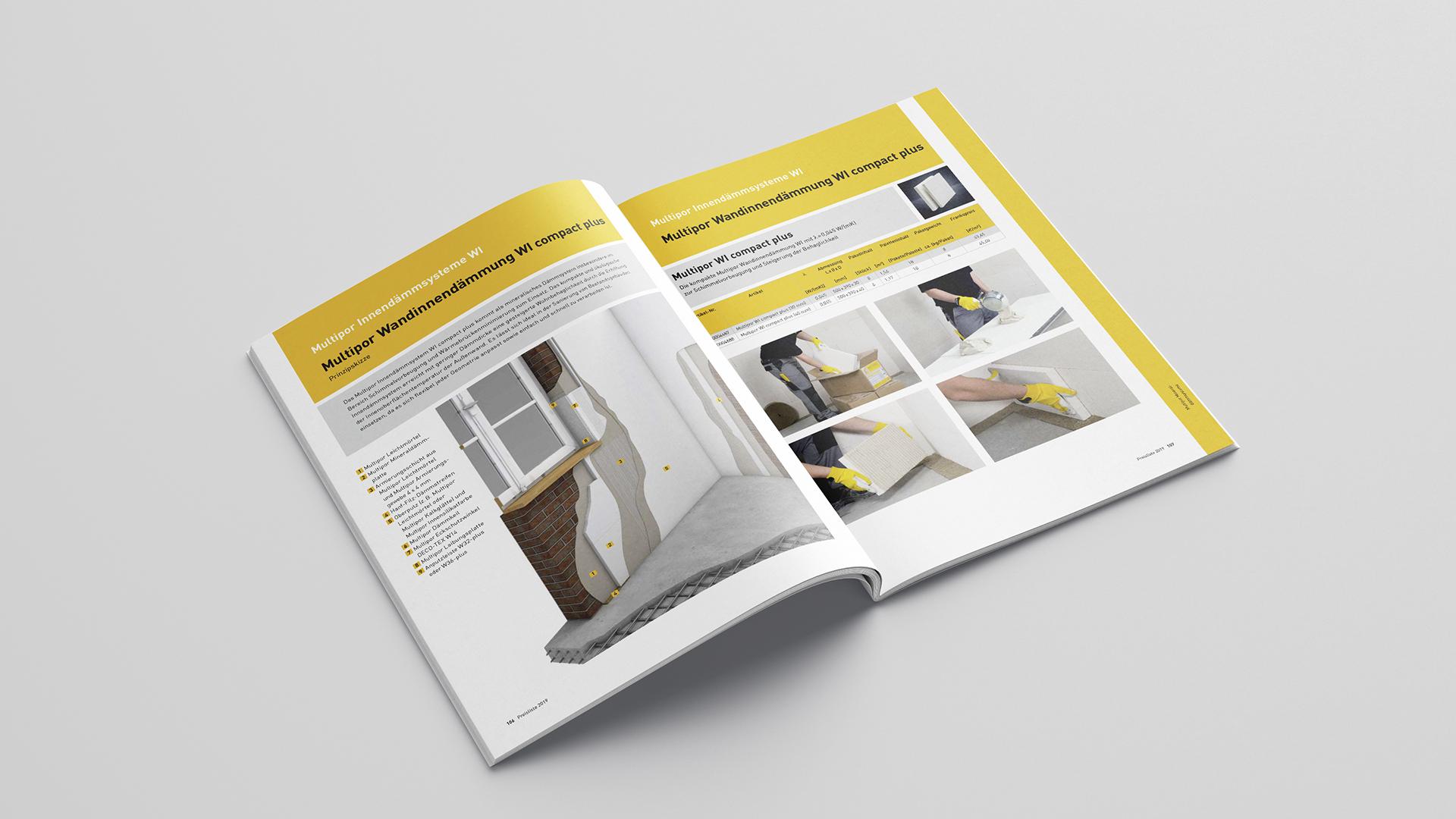 Multipor Layout Broschüre