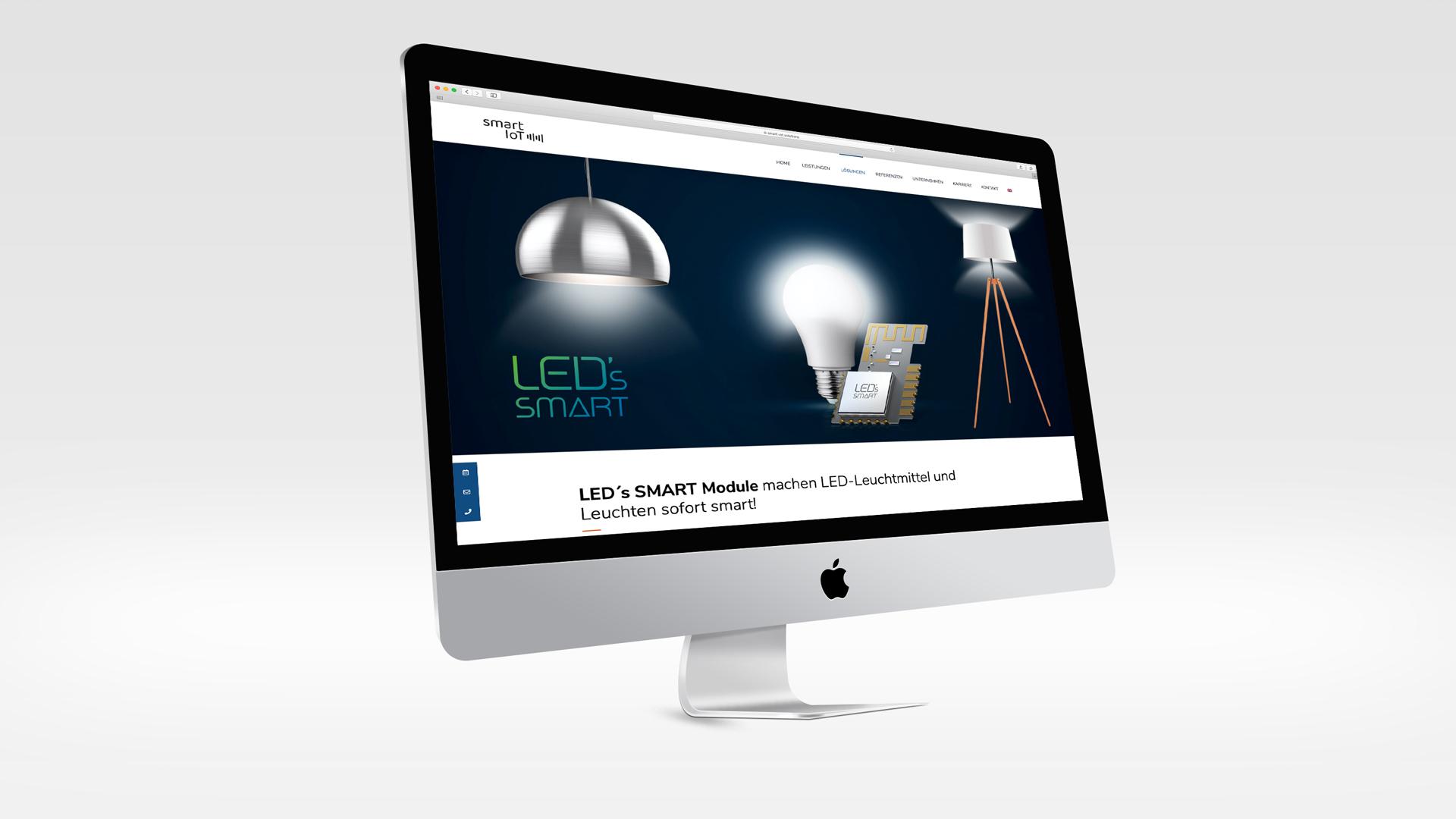 Markenentwicklung – Brand Design für smarte Lampensteuerung, Webdesign