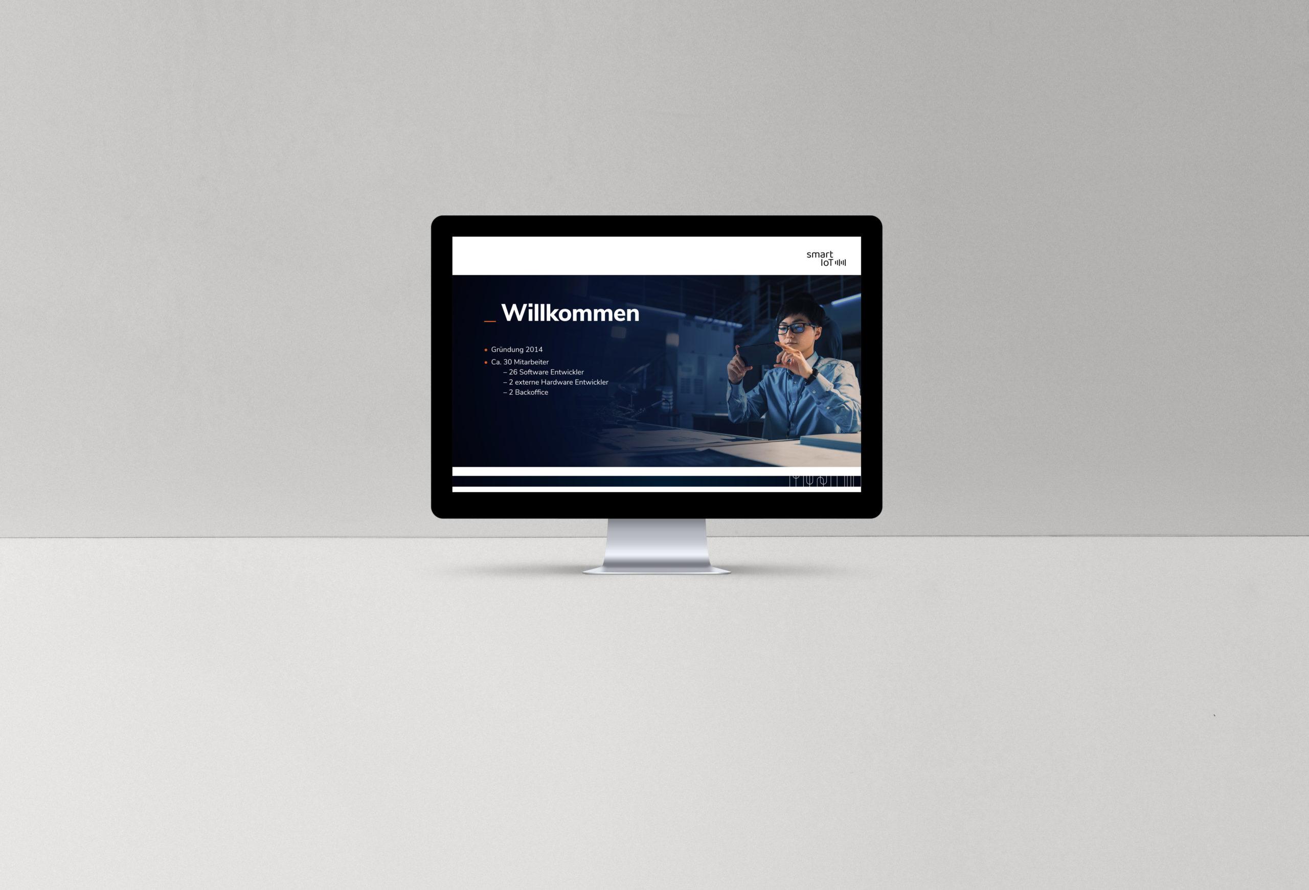 Startscreen Website smart IoT